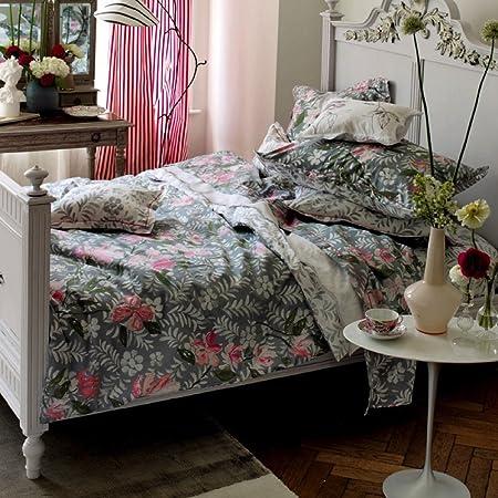Designers Guild Hesperia Peony sábana Bajera (1 x 90/200 de 100% satén de algodón, Fabricado en France. Color: Amazon.es: Hogar