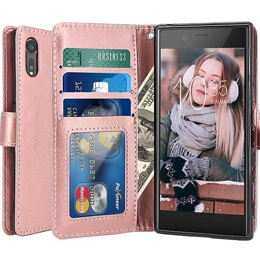4 opinioni per Custodia Sony Xperia XZs / Xperia XZ, LK Case in Pelle PU di Lusso Portafoglio