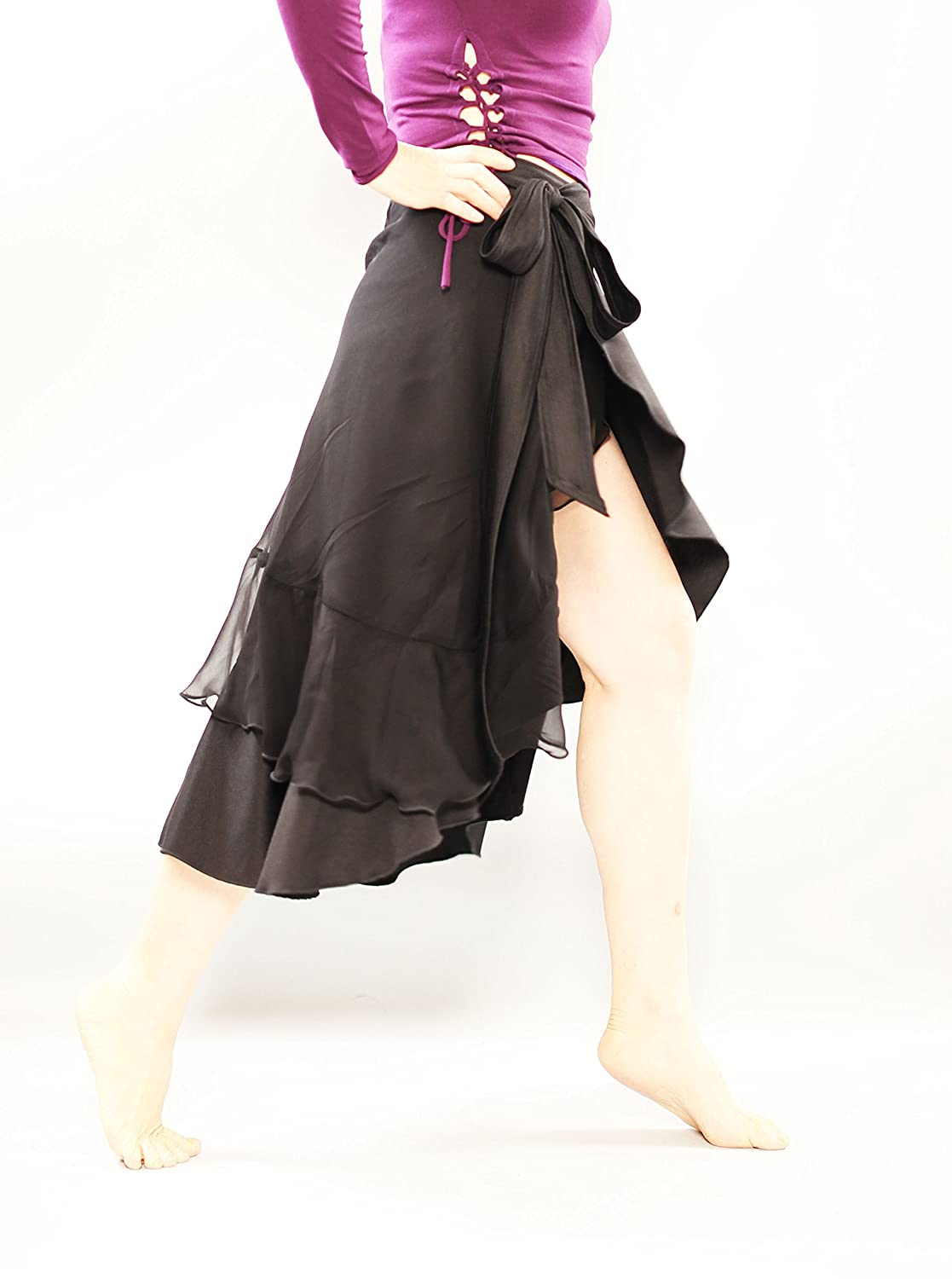 black silk warp women skirt