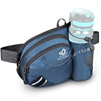 WATERFLY Hiking Waist Bag Fanny Pack with Water Bottle Holder for Men Women Running...