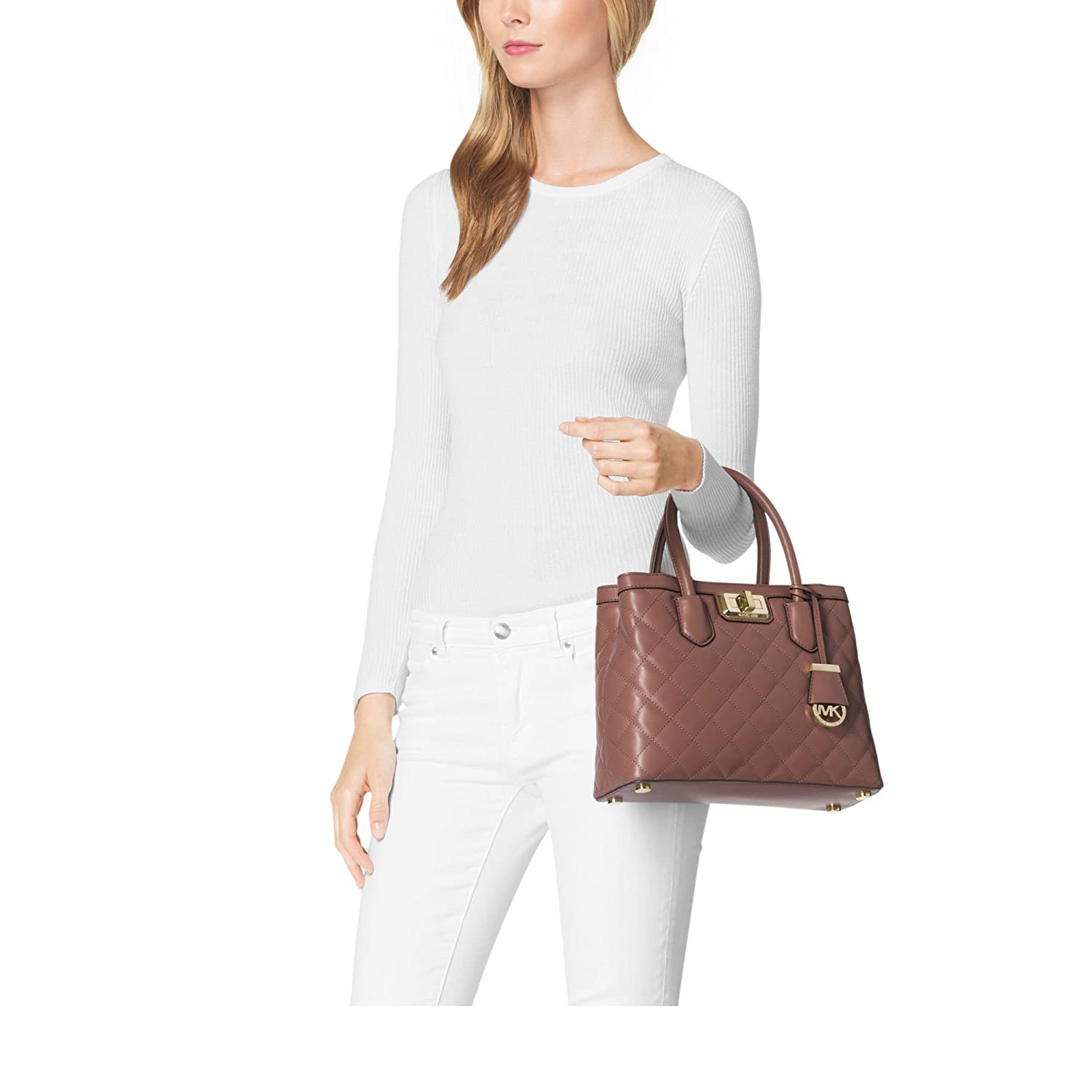 cb61b589b4b0 ... Michael Kors Hannah Small Satchel Dusty Rose Handbags Amazon Michael  Kors Sutton ...
