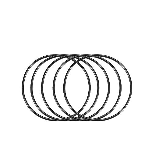 50stk Nitril Butadien Gummi NBR O-Ring 3,4mm Innendurchm 1,9mm Breite Schwarz