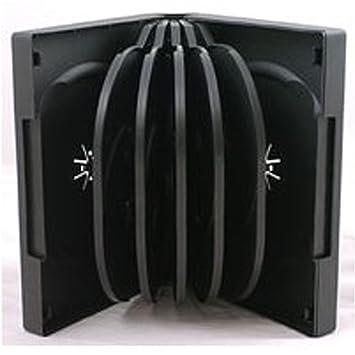Caja Four Square Media para CD, DVD o Blu-ray para 12 discos (39 mm, 1 unidad), color negro