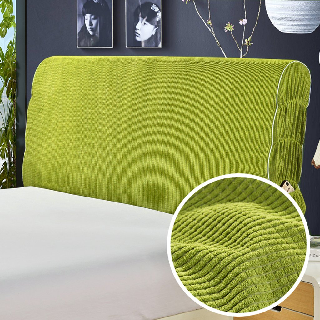 Taiyucover Dustproof Solid Color Corduroy Bed Headboard Covers,Anti-mite Refurbish Bed Head Protectors;Bedside Bedroom Slipcovers Decors (Green, Queen) by Taiyucover