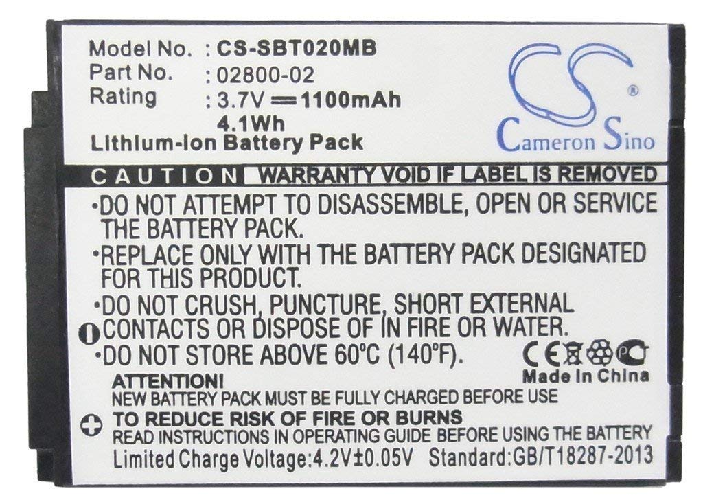 Cameron Sino 1100mAh Li-ion Rechargeable Baby Monitor Batteries Replacement for Summer 02800-02 JNS150-BB42704544 ((3.7V NIMH 1100mAh)) by Cameron Sino®