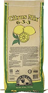 Down To Earth Organic Citrus Fertilizer Mix 6-3-3, 25 lb