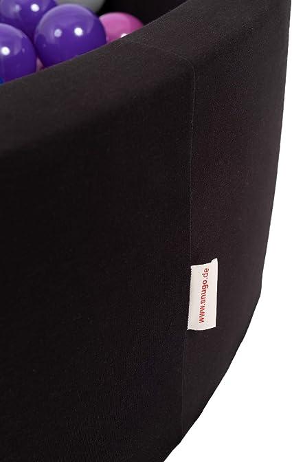 Dunkelgrau Wei/ß Altrosa snugo Rundes B/ällebad in dunkelblau mit 350 B/ällen Made in Germany Lila
