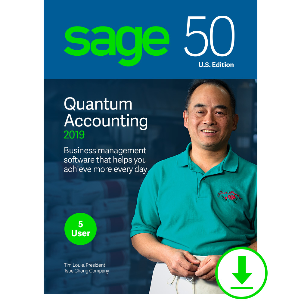 Sage 50 Quantum Accounting 2019 - Small Business Accounting Management Software - Payment and Inventory Management - Safe and Secure - Easy Integration with Microsoft Productivity Tools
