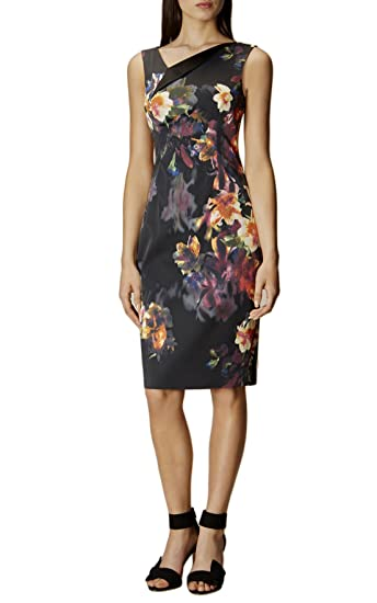 f8bb10bd757 Karen Millen Orchid Floral Print Satin Pencil Dress