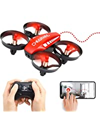 Amazon helicopters remote app controlled vehicles toys games cheerwing cw10 mini drone for kids wifi fpv drone with camera remote control quadcopter with altitude altavistaventures Gallery