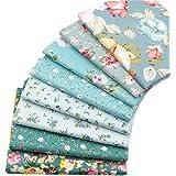 8 piezas de 40 cm x 50 cm, tela de algodón superior para acolchar cojines de patchwork, almohadas, material de costura, álbumes de recortes, ropa de muñeca