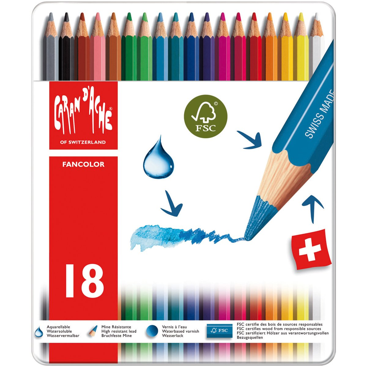 Caran d'Ache Fancolor Color Pencils