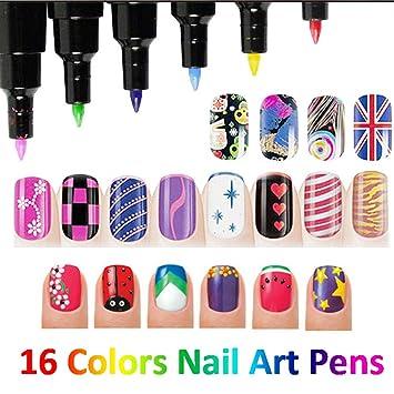 Amazon Lookathot 16 Colors Nail Art Pens Professional Nail