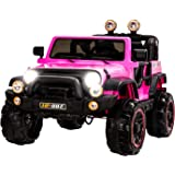 Uenjoy Ride on Cars 12V Children's Electric Cars Motorized Cars for Kids with Remote Control, 3 Speeds, Head Lights, Model HP-002, Pink