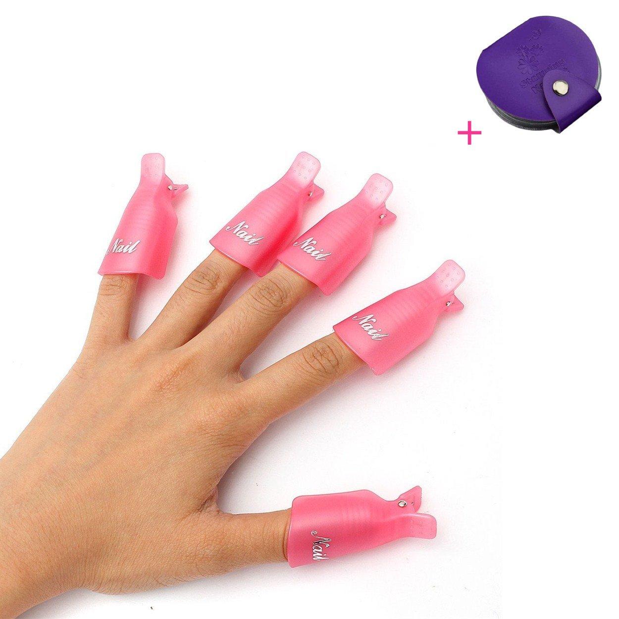 Beauty & Health 10pc Plastic Nail Art Soak Off Cap Clip Uv Gel Polish Remover Wrap Tool