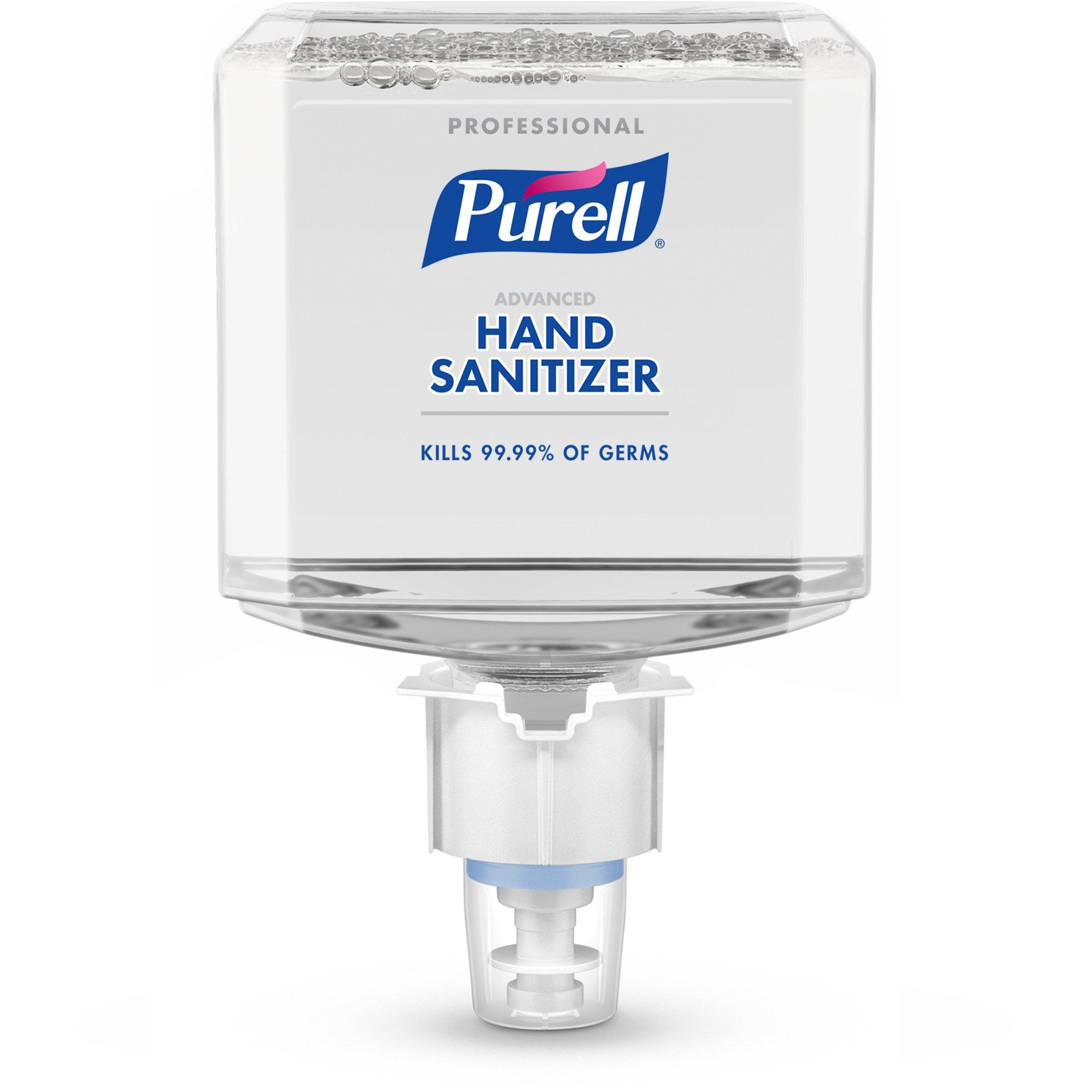 PURELL Professional Advanced Hand Sanitizer Foam Refill, 1200mL Refill for ES4 Hand Sanitizer Dispenser (Pack of 2) - 5054-02