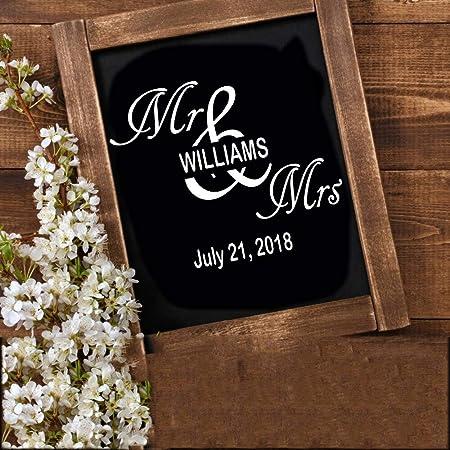 Ajcwhml Nuevo Sr. y Sra. Will Mark Applique Art Sr. y Sra. Vinyl ...