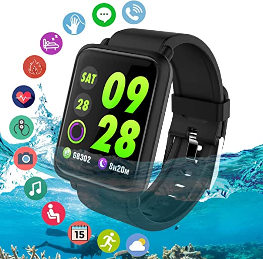 Fitness Tracker, Smart Watch Activity Tracker Watch IP67 Waterproof Fitness Smart Watches with Heart Rate Monitor Step Counter Sleep Monitor Sports ...