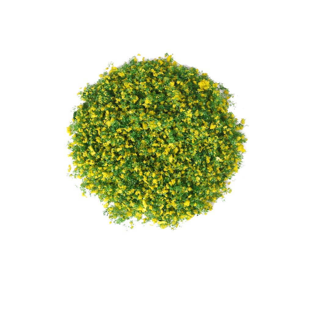 1 Pack of Tree Leaves Foliage for DIY Model Building Landscape---Green and Yellow Generic