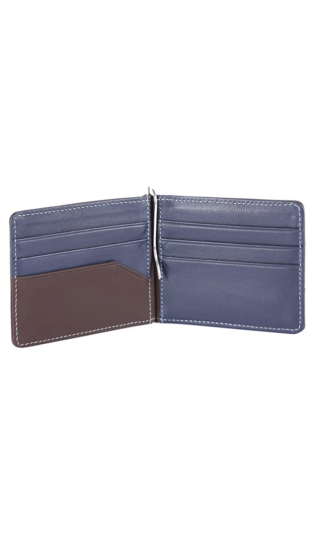 Velez Men Genuine Real Leather Bifold Credit Card Holder Slim Horizontal Standard Travel Wallet Slim Money Clip Carteras de Cuero para Hombres Brown at ...