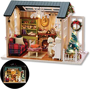 DIY Wooden Kids Dolls House Room Miniature Kit Play Toy Christmas Home Gifts USA