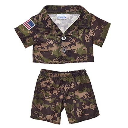a57a7839cb4 Amazon.com  Build A Bear Workshop Green Digital Camo Outfit 3 pc ...