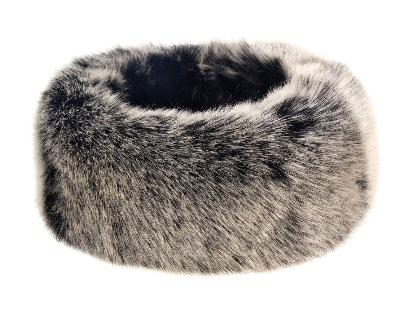 Futrzane Winter Faux Fur Headband for Women and Girls (Siberian Grey) by Futrzane