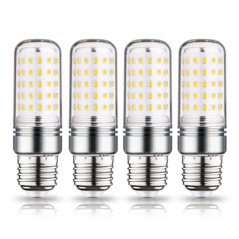 LEKE E26 LED Bulb 15 watt Light Bulbs 3000k 1500lm Warm White LED Light Bulb 100w-120w Equivalent LED Bulb T10 Tube Shape Non-Dimmable (4 Pack)