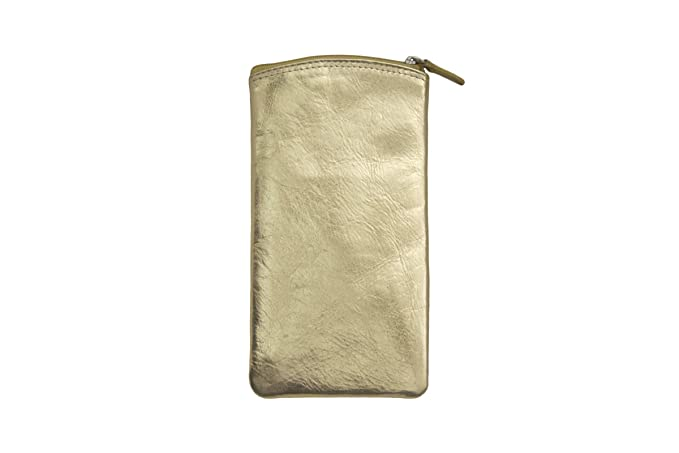 2bbcc1db0be Image Unavailable. Image not available for. Color  ILI Leather Eyeglass Case  With Zip Pocket ...