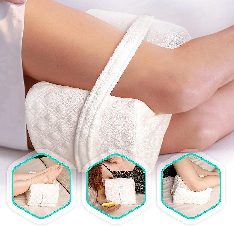 Leg Pillow Memory Foam Pillow for Sleepping on Side Back Lumbar Relief