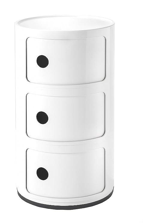 Mobili In Plastica Componibili.Kartell Componibili Contenitore Plastica Bianco 32 X 32 X 58