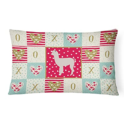 Caroline's Treasures CK5346PW1216 Alpaca Love Canvas Fabric Decorative Pillow, 12H x16W, Multicolor : Garden & Outdoor