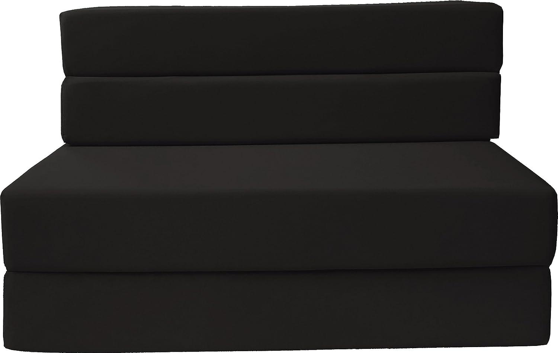 Queen Size, Black Guest Beds Sofa Chair Bed D/&D Futon Furniture Folding Foam Mattress