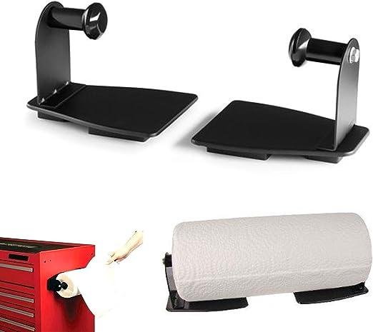 EhomeA2Z Magnetic Paper Towel Holder Heavy Duty Steel Black, 1
