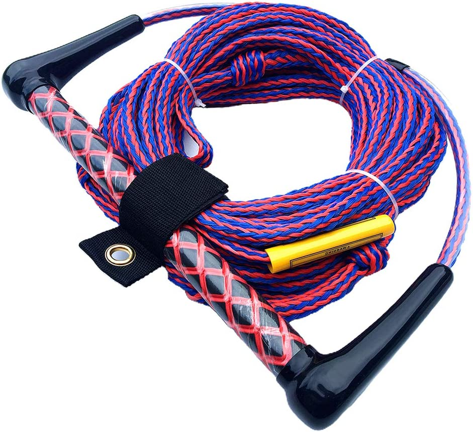 15 Inch Floating Handle Toygogo Water Ski Wakeboard Kneeboard Rope for Boating 3-Section Waterski Watersports Rope