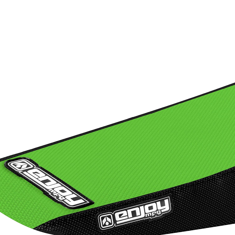 Kawasaki 1999-2002 KX 125 KX 250 KX125 KX250 Black Sides Green Top Full Gripper Seat Cover By Enjoy Mfg