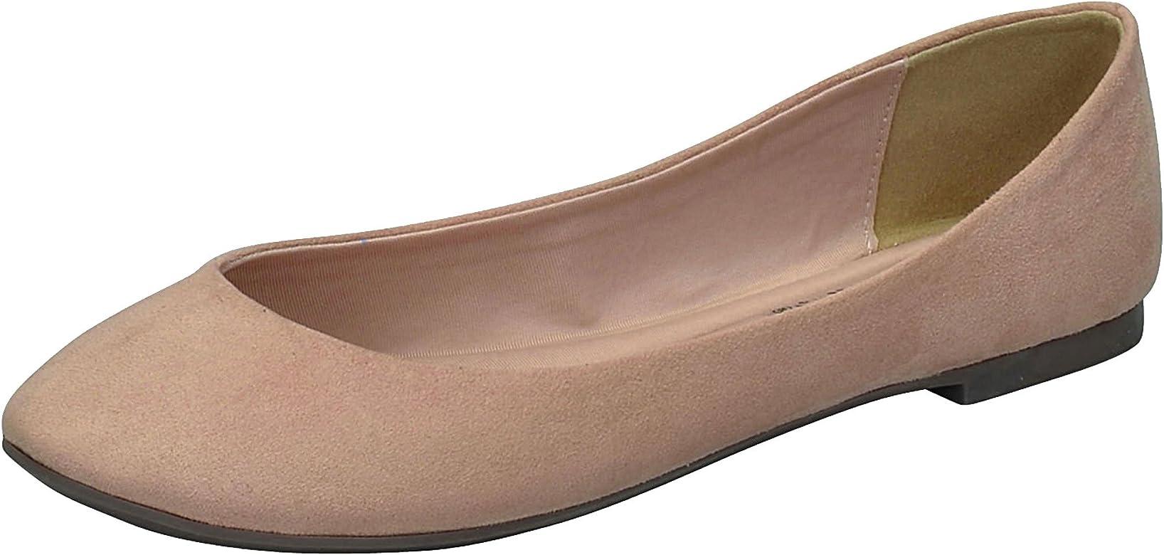 7b923ffdd834c Women's Pointed Toe Slip On Ballet Flats