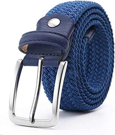 Elastico stoffa cintura uomo e donna cintura in finta pelle dettagli fibbia in metallo
