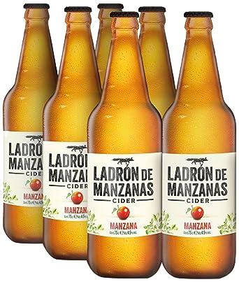 Ladrón de Manzanas Cider Manzana - Caja de 6 Botellas x 750 ml - Total: