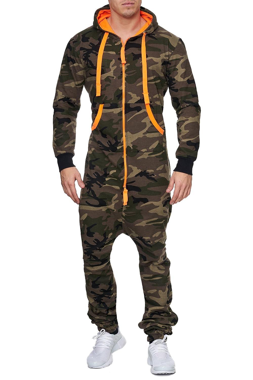 John Kayna Herren Overall Camouflage Orange Jumpsuit