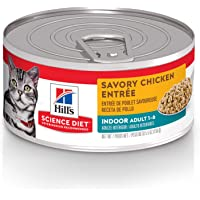 Hill's Science Diet Adult Indoor Savory Chicken Entrée Canned Wet Cat Food, 156g, 24 Pack