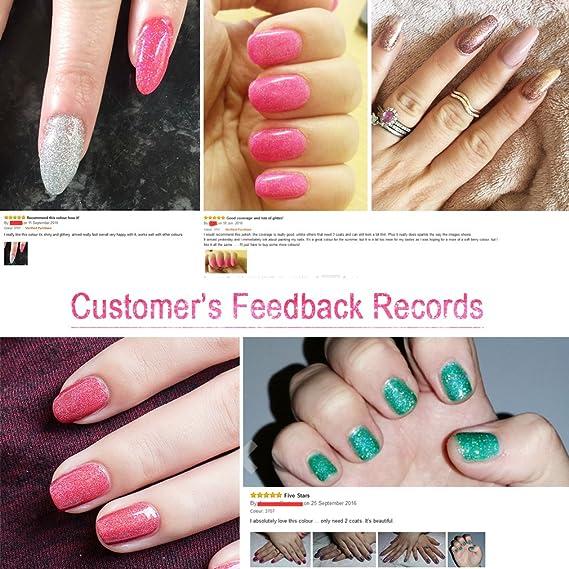 fairyglo neón Bling Gel de uñas UV LED Soak Off Colorful barniz brillante Manicura Decoración Kit Uñas 10 ml: Amazon.es: Belleza