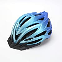 Bike helmet with safety lighting, Road Bicycle Helmet, Cycling, with Visor, Helmet Bike Adjustable for Adult,Blue