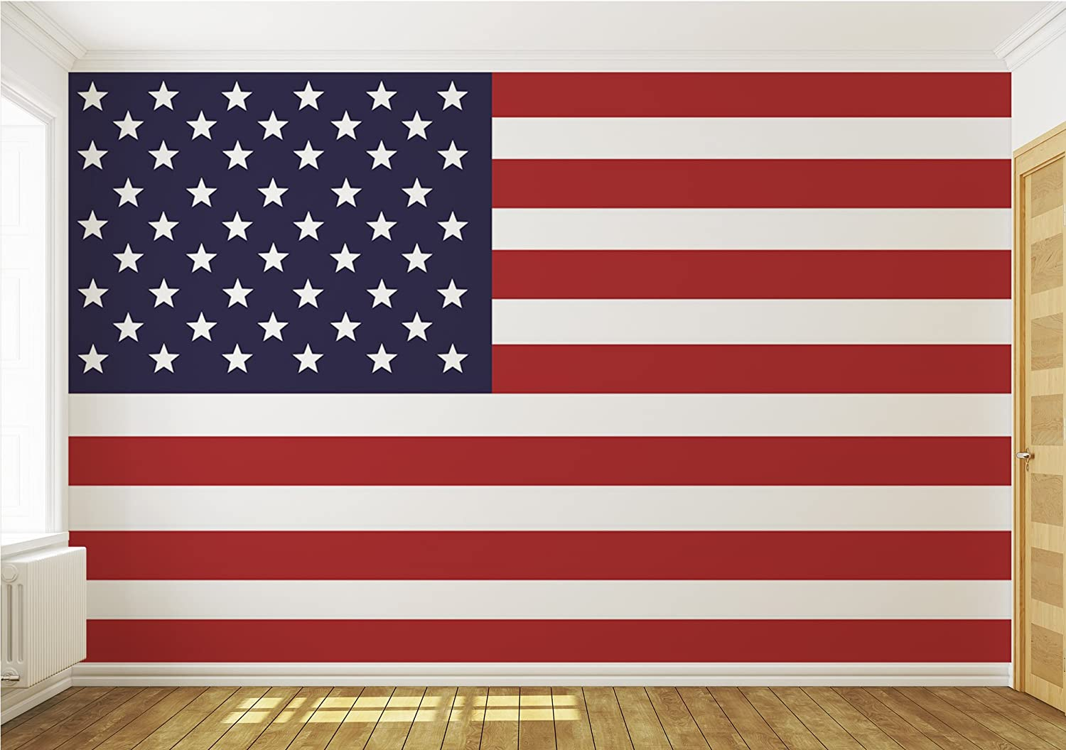 Usa American Flag Wallpaper Mural Amazon Com
