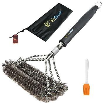 Vogvigo Cepillos de Limpieza de Acero Inoxidable -3 En 1 Cepillo para Cocina, Barbacoa