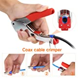 Coax Cable Crimper, Coaxial Compression Tool Kit