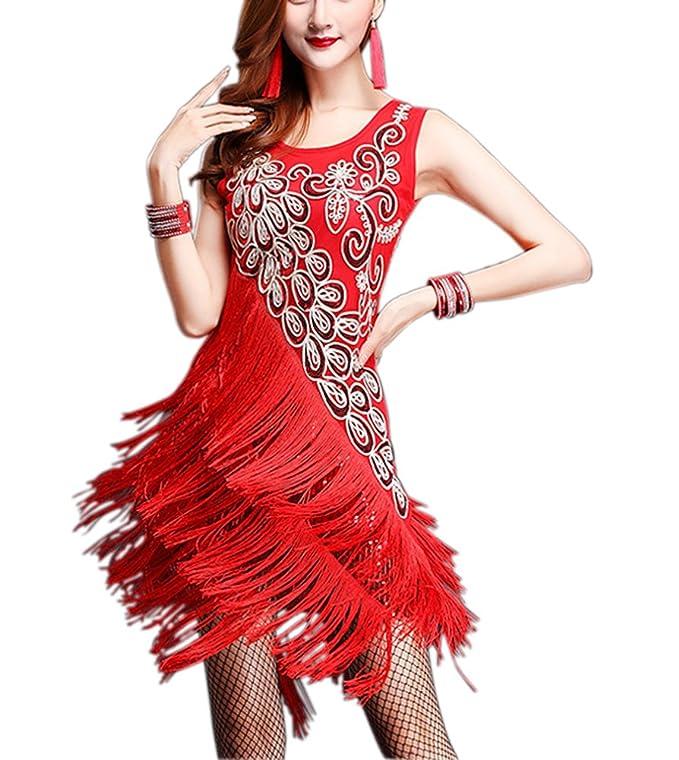 Amazon Whitewed Bling Fringe 20s Flapper Great Gatsby Dance Theme Style Costume Dress Clothing