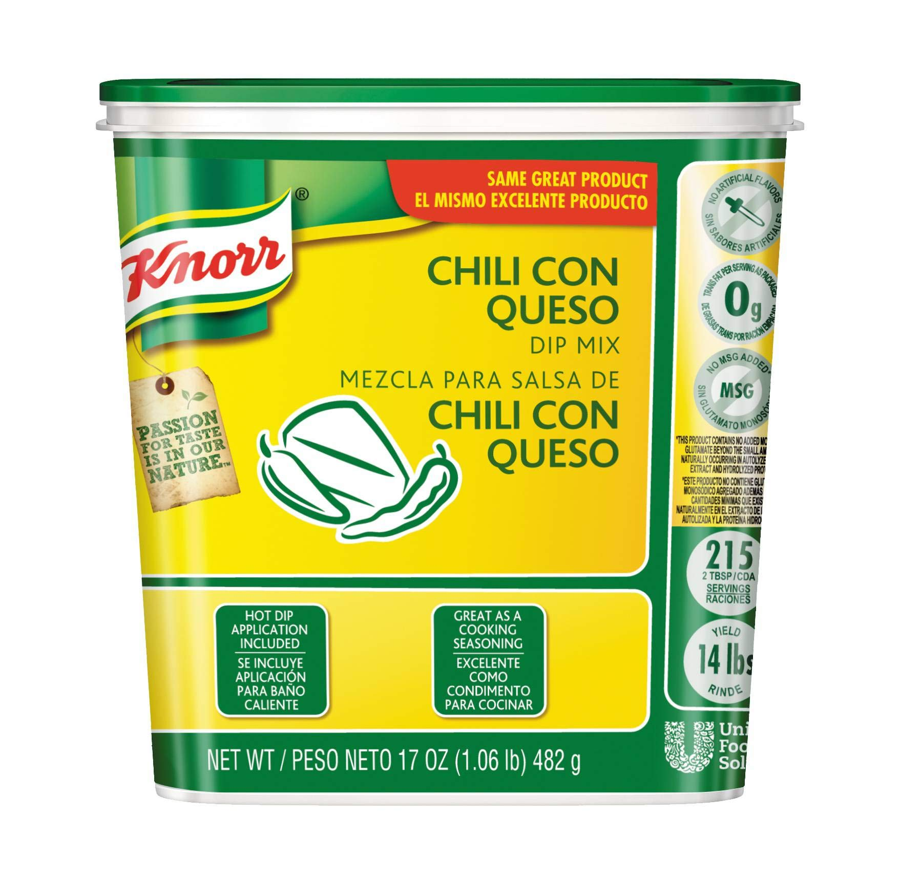 Knorr Chili Con Queso Dip Mix, 1.06 Pound - 6 per pack -- 1 each. by Knorr