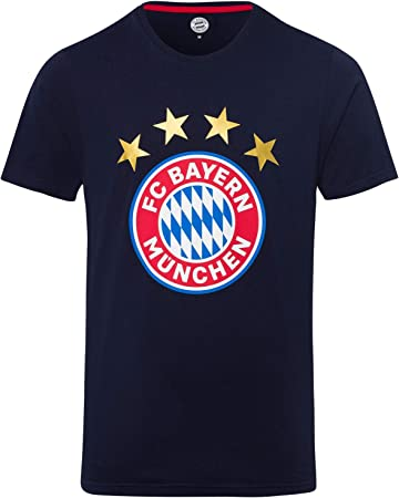 FC Bayern M/ünchen T-Shirt Logo Glitzer Lady schwarz