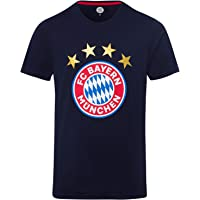FC Bayern München T-Shirt Logo Navy, Fanshirt mit großem FCB-Emblem